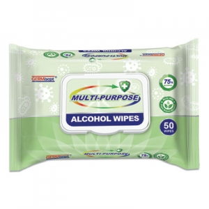 Multi-Purpose Alcohol Wipes, 7.8 x 5.9, White, 50/Pack